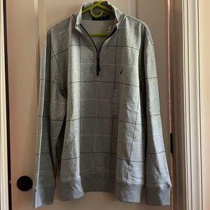 Nautica Men's Grey 1/4 ZIP Pullover